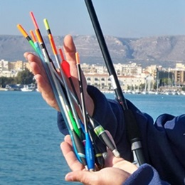 Pesca all'inglese in mare