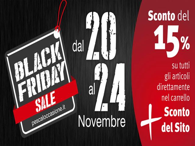 Torna il Black Friday su Pescaloccasione